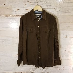 Tommy Hilfiger full button blouse